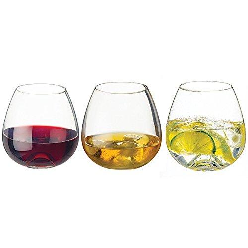 Dartington www. tumbler 3 pack hand made contemporary stemless wine glass whiskey wine soft drinks
