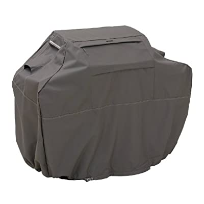 Classic Accessories Ravenna Grill Cover - Premium BBQ Cover with Reinforced Fade-Resistant Fabric and Lifetime Warranty from Classic Accessories