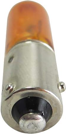 Dedc 2 Stück Bernsteinfarbene Blinkerbirnen Hy21w Bernsteinfarbene Halogenlampen T 2 75 Form Bay9s 21w Auto