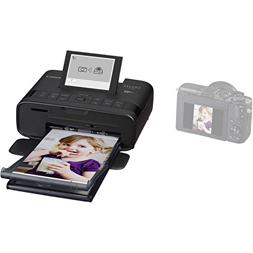 Canon SELPHY CP1300 Wireless Compact Photo Printer (Black) + Canon KP-108IN Color Ink Paper Set (Produces up to 108 of 4 x 6'' prints) + USB Printer Cable + HeroFiber Ultra Gentle Cleaning Cloth by HeroFiber (Image #4)