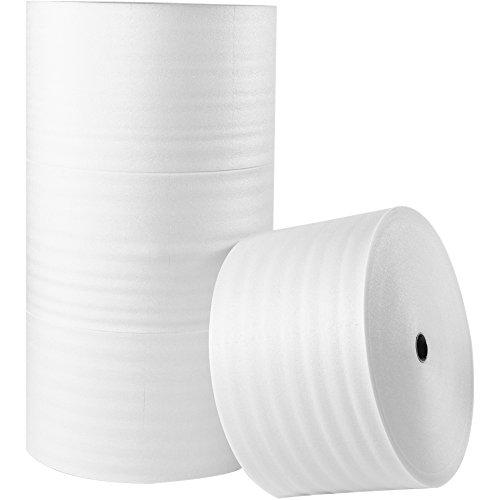 Tape Logic TLFWUPS116S12 UPSable Air Foam Rolls, 1/16'' x 12'' x 900', White by Tape Logic
