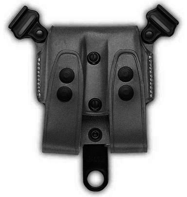 Galco SCL24B SCL Double Magazine Case For Shoulder System, Staggered Polymer, Ambidextrous, Black (Double Case Galco Magazine)
