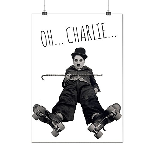 Charlie Chaplin Star Funny Movie Matte/Glossy Poster A2 (17x24 inches) | Wellcoda - Chaplin Movie Poster