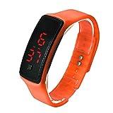 Lookatool Fashion Ultra Thin Girl Men Sports Silicone Digital LED Sports Wrist Watch