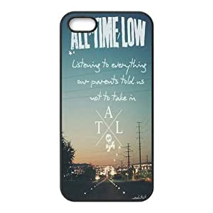 iPhone 5S Protective Case - All Time Low Hardshell Carrying Case Cover for iPhone 5 / 5S