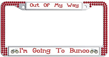 Chrome METAL License Plate Frame Made In Canada Auto Accessory 1159