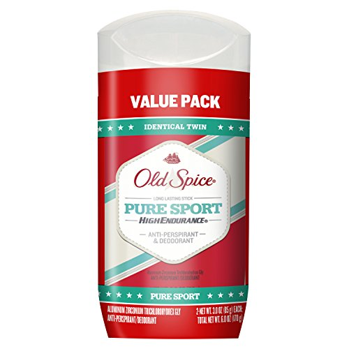 Old Spice Antiperspirant and Deodorant for Men, High Endurance, Pure Sport Invisible Solid, Lemon Lime Scent, 3 Oz (Pack of 2) - Perspirant Deodorant High Endurance Anti