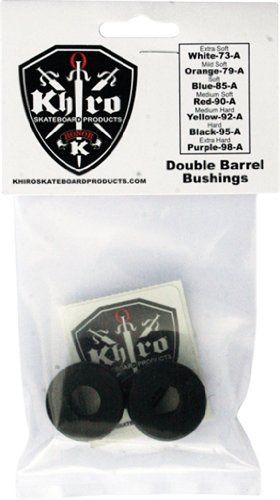 Skateboard Khiro Truck (Khiro Double Barrel Bushing Set 95a Hard Black)