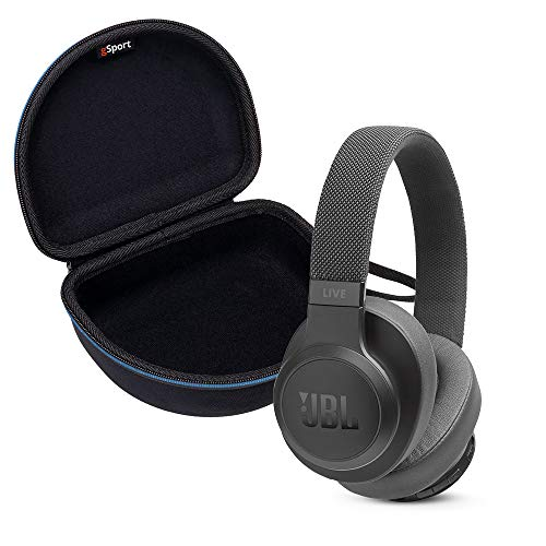 JBL Live 500BT Wireless Over-Ear Headphone Bundle with gSport Deluxe Travel Case (Black)