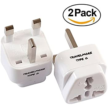 2 Pack UK Travel Adapter For TYPE G Plug - Works With Electrical Outlets In  United Kingdom, Hong Kong, Ireland, Great Britain, Scotland, England,  London, ...