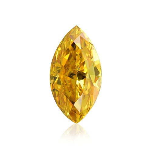 0.21Cts Fancy Vivid Yellow Orange Loose Diamond Natural Color Marquise Shape GIA (Diamonds Marquise Loose Vs2)