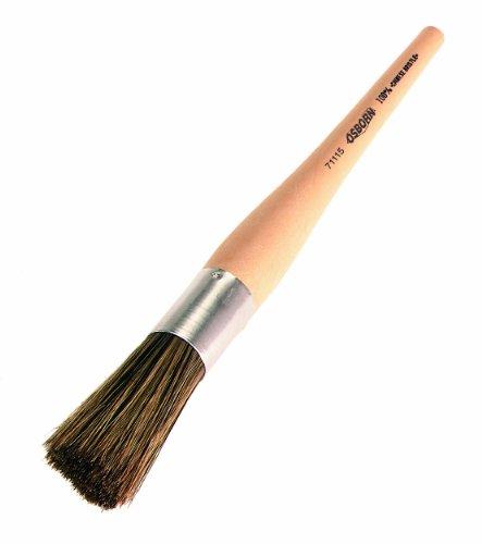 Osborn 71114 Pure China Bristle Round Sash Tool Paint Brush with Plastic (Round Sash Brush)
