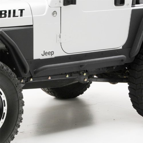 Yj Rock (Smittybilt 76861 XRC Rock Sliders w/ Step, 87-95 YJ Wrangler Textured Black)