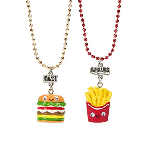 Wenhui's Wisdom Product BFF Necklace for Childrens, Friendship Burgers and Fries Best Friend Funny Gift-Friendship Necklace for 2