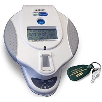 e-pill | MedSmart | Automatic Pill Dispenser w/Patient Compliance Dashboard w/Docking Station | 6 Doses Per Day | Early Dose button, High Capacity, Displays number of doses left, AC Power, Battery