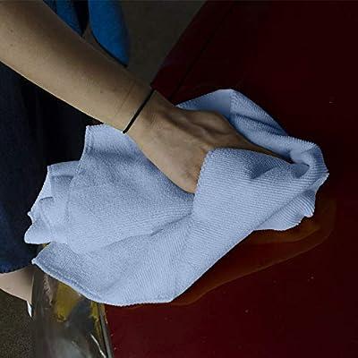 Towels by Doctor Joe DJMF8200-BL Royal Blue 16 Inch x 16 Inch, (Pack of 12) Microfiber Towel, 12 Pack: Automotive