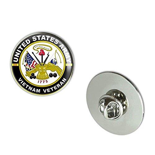 NYC Jewelers Round US Army VIETNAM VETERAN (military troops vet served nam) Metal 0.75