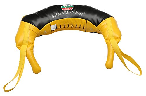 Suples Bulgarian Bag - Original Model - Synthetic Leather (X-Small, 11 lb, Yellow) Invented by Olympian and Wrestling Hall of Famer Ivan Ivanov! Free Instructional DVD by Ivan Included!