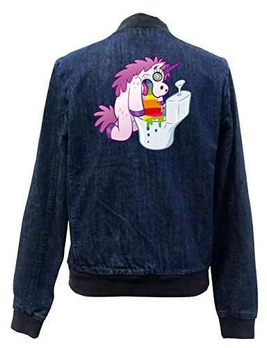 Unicorn Giacca Bomber Jeans Hurling Certified Freak Girls zqF7UnR