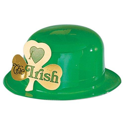 Beistle 33441 24-Pack Plastic Irish Derbies Party Hat by Beistle