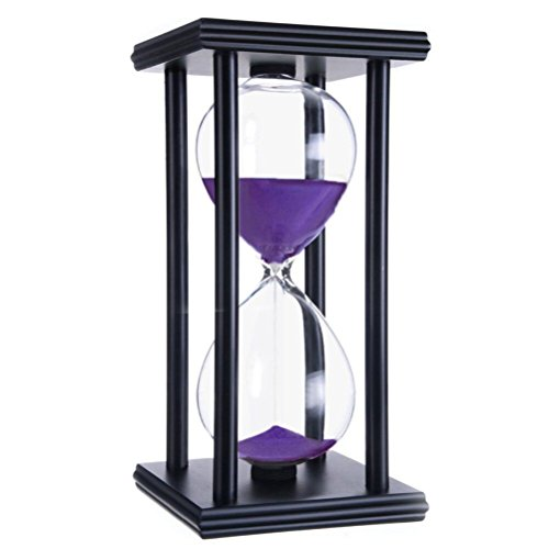 45 Minutes Hourglass, iPhyhe Sand Timer with Black