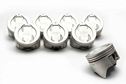 Chevy 350 1971-95 Sealed Power 423NPS Cast Dish Top Cast 4 Valve Relief Pistons & Rings (4.030