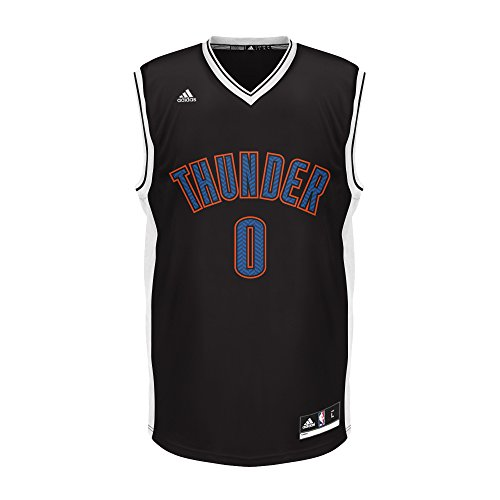 NBA Oklahoma City Thunder Adult Men Chevron Fashion Replica Jersey, X-Large, Black Thunder Jersey