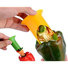 Bestwishes2u Pepper Corer Fruit Vegetable Tool Kitchen Accessories Random Colour Delivery