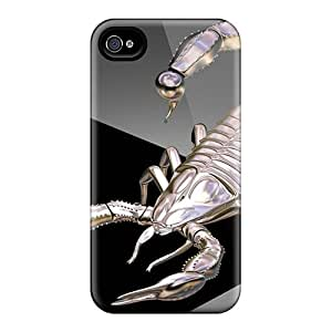 Hot 3d Metallic Scorpion First Grade Tpu Phone Cases For Iphone 4/4s Cases Covers