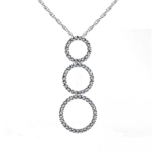 4.25 ct. Round Cut Diamond Graduated Circle Pendant