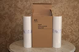 2 Riso S-3549 Compatible Masters, for Risograph FR3910, FR3950, RP3100, RP3105, RP3500, and RP3505 Duplicators.