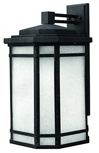Hinkley 1274VK Craftsman/Mission One Light Wall Mount from Cherry Creek collection in Blackfinish, - Black Cherry Outdoor Wall Mount
