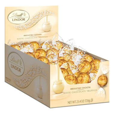 Lindor Truffles White Chocolate (60 ct.) - (Original from manufacturer - Bulk Discount available) by Lindor