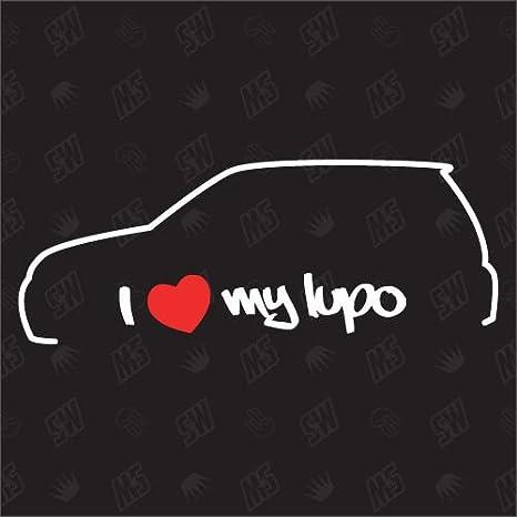 Speedwerk Motorwear I Love My Lupo Sticker Kompatibel Mit Vw Baujahr 1998 2005 Auto