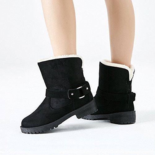 Boots Snow e trend grandi black di europeo popolare inverno dimensioni americano scarpe moda cotone di di dTzUxT