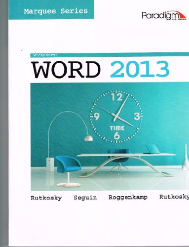 MICROSOFT WORD 2013:MARQUEE...