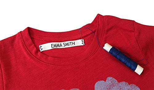 (100 Personalized Labels to Mark Clothes. Sewing Tape in Clothes. Gentle with Your Kids Skin, for Children's School Uniform/Clothing Labels for Kids, Baby and Children. Send Text in Gift MESAGE)