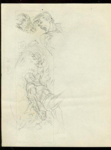 WAYNE BORING ORIGINAL SUPERHERO ART SKETCH---9