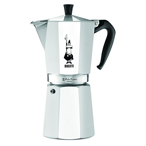 The Original Bialetti Moka Express Made in Italy 12-Cup Stovetop Espresso Maker with Patented Valve