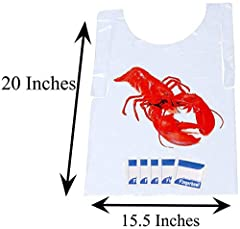 Disposable lobster bibs are a must for your next cookout.          Wow your guests with that extra touch at your next seafood boil.         The lemon scented hand wipes will be appreciated by all after a long meal.         ...