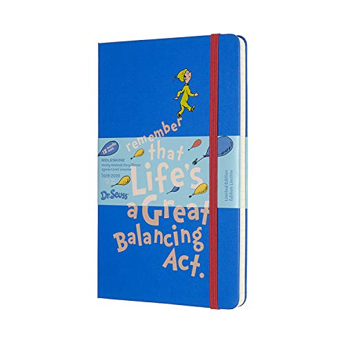 Moleskine 2019-20 Dr. Seuss Weekly Planner, 18 Month, Large, Blue, Hard Cover ()