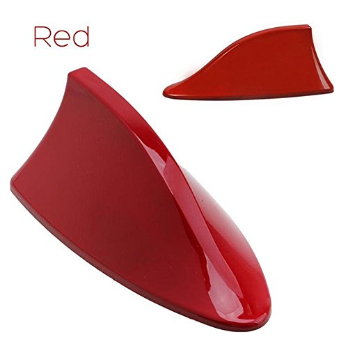 FOLCONROAD Car Shark Fin Antenna Auto Shark Fin Roof Aerial Base Radio Signal ()