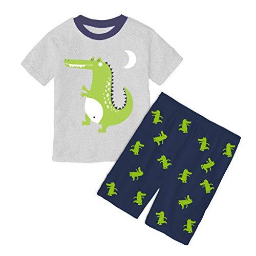 Animals Crocodile Boys Kids Pajamas Size 8 (2 Pieces) Short Sets PJS ()