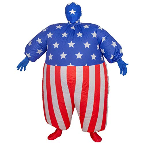 Easy Political Halloween Costumes (USA Flag America Chub Suit Inflatable Costume (Adult)