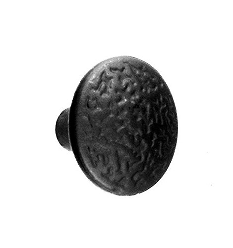 Acorn Manufacturing RPGBP 1.375 Inch Rough Iron Round Knob, Black Iron Finish (Knob Acorn Cabinet)