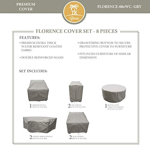 TK Classics FLORENCE-08e Protective Cover Set, in Grey Grey