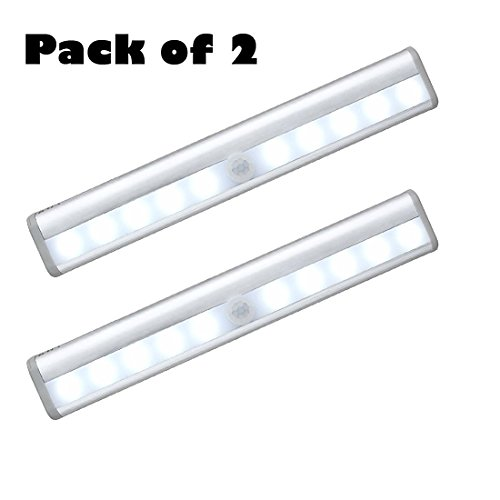 Pack of 2 AceList 10-LED Wireless Motion Sensing Closet C...