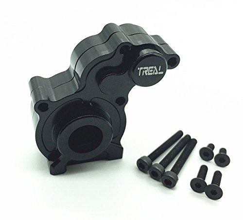 - Treal Aluminum Center Gear Box Mount for Axial SCX10 Electric 4WD RC 1:10 Model Car Black