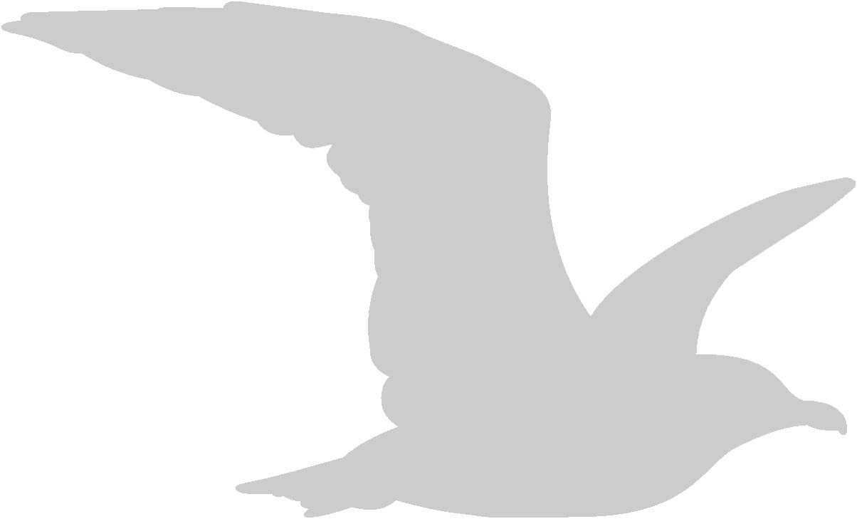 Samunshi Möwe Tier Aufkleber Autoaufkleber Sticker Für Auto Motorrad Wohnmobil Scheiben In 9 Größen Und 25 Farben 15x9cm Silbermetalleffekt Küche Haushalt