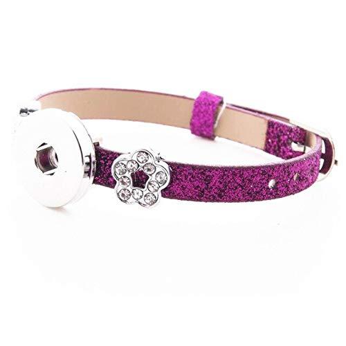 Snap Button Bracelets & Bangles | 8Mm Leather Wristbands | DIY Accessory Bracelets | Fit Snap Buttons & Flower Slide Charms (10Pcs)
